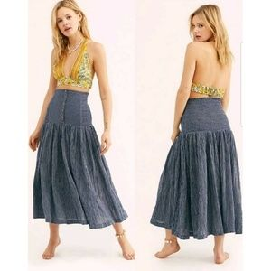 New Free People Ocean Eyes Maxi Skirt/Dress XS
